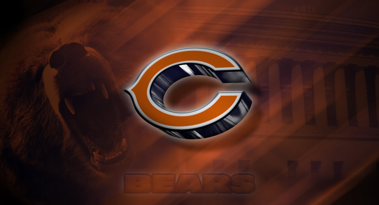 Chicago Bears Soldier Field Wallpaper 1600x864 Full HD Wallpapers 1600x864