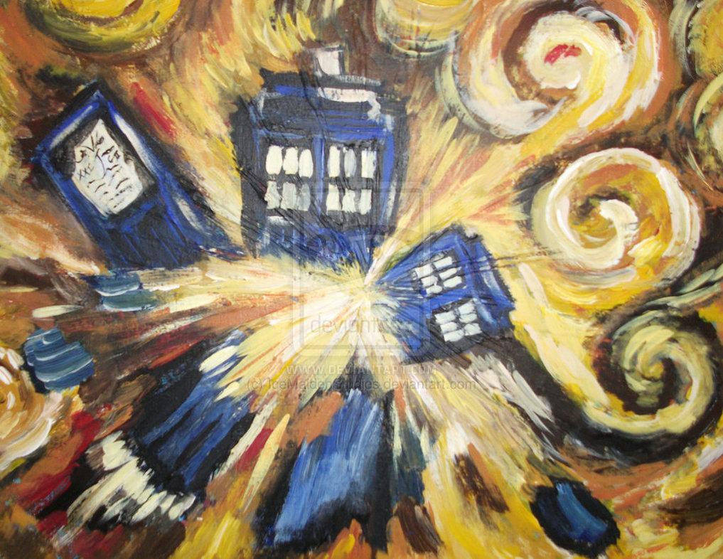 50 Van Gogh Exploding Tardis Wallpaper On Wallpapersafari