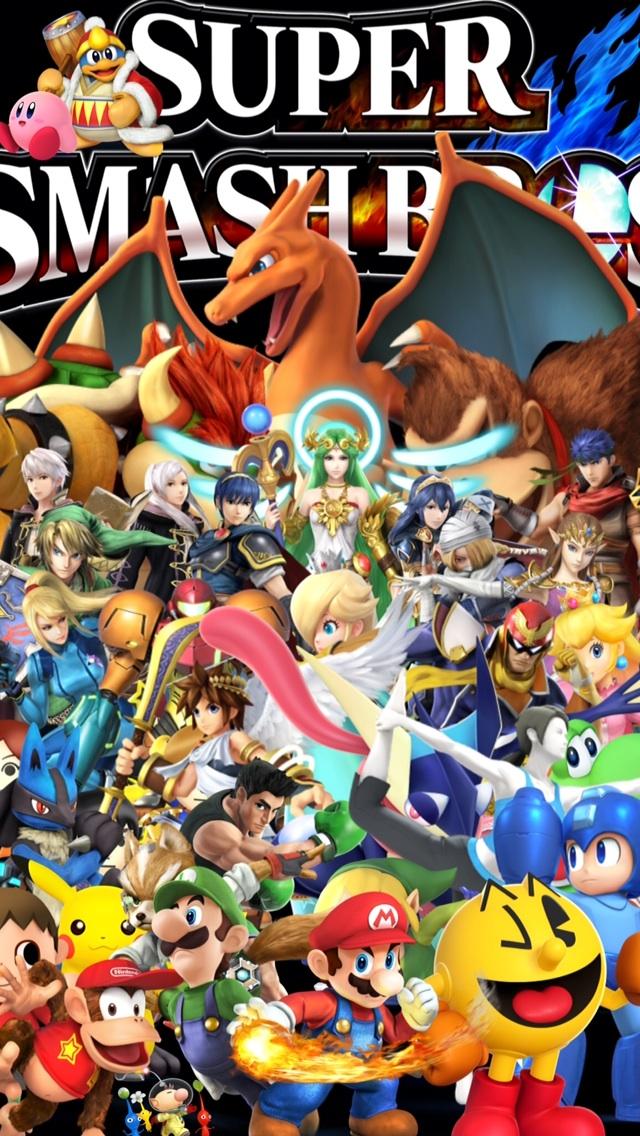 Super Smash Bros Melee Iphone Wallpaper Ssb4i Made An 640x1136