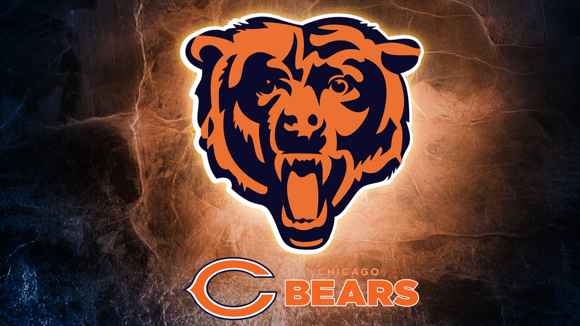 Download Chicago Bears logo Hd 1080p Wallpaper screen size 1920X1080 1920x1080