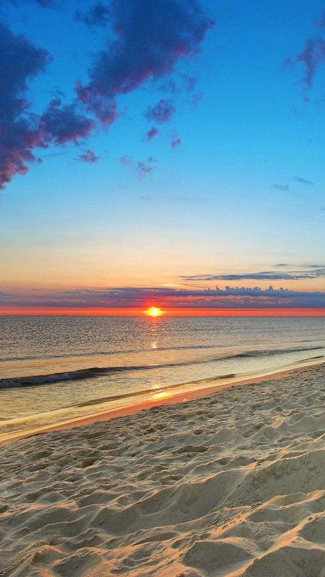 free download ocean beach sunset hd iphone 5 wallpapers 5 640x1136