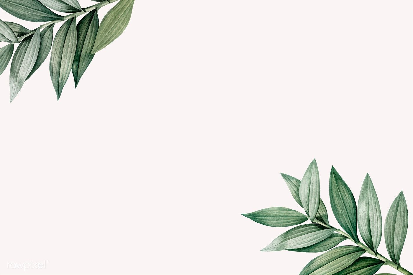 Download premium vector of Tropical botanic leaves background 1400x934