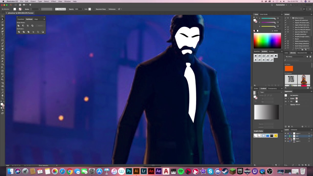 Fortnite John Wick Wallpaper Timelapse 1280x720