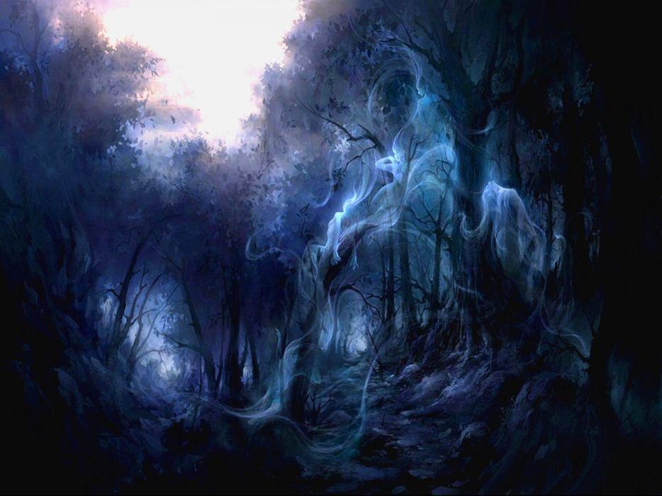 Dark ghost fantasy art artwork horror spooky creepy halloween 934x700