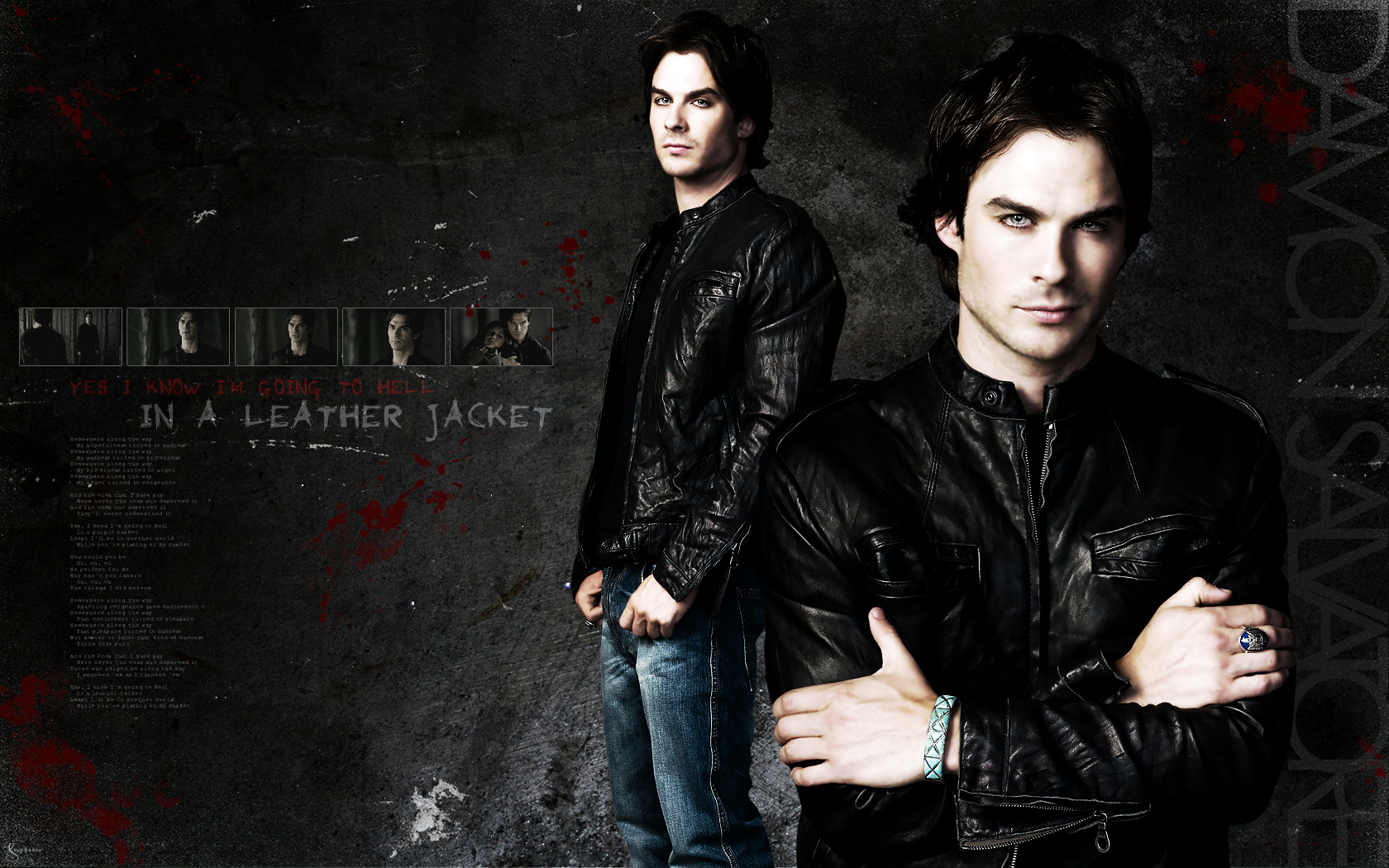 Damon   The Vampire Diaries Wallpaper 12233973 1680x1050