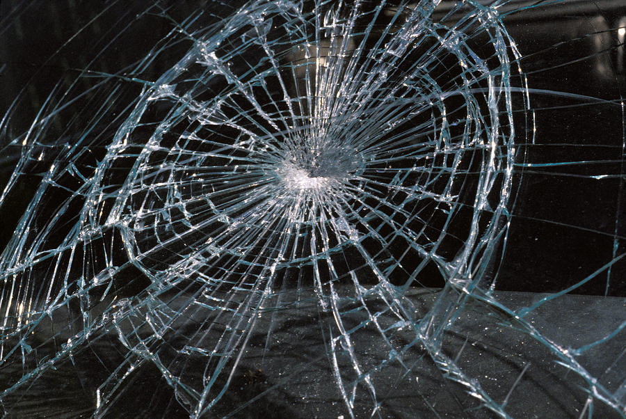 Cracked Glass Cracked glass of car 900x602