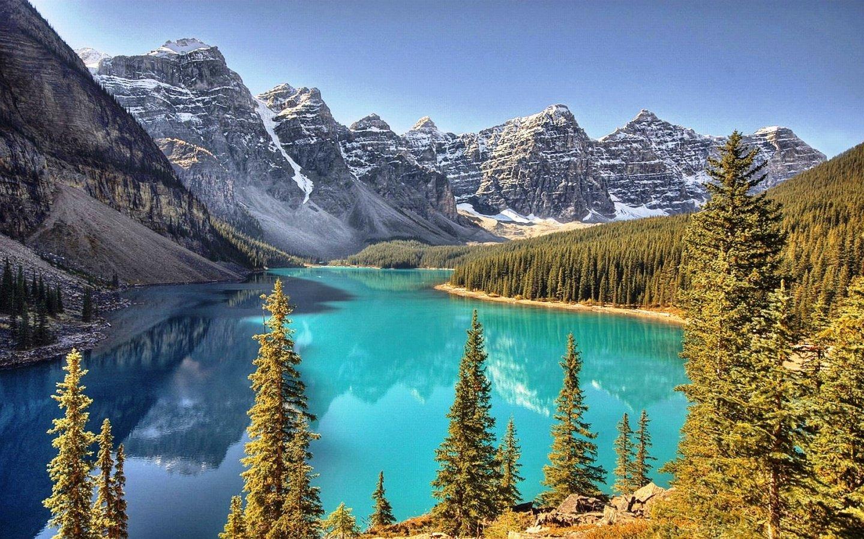 Blue in The Mountains Desktop HD Wallpaper 1440x900