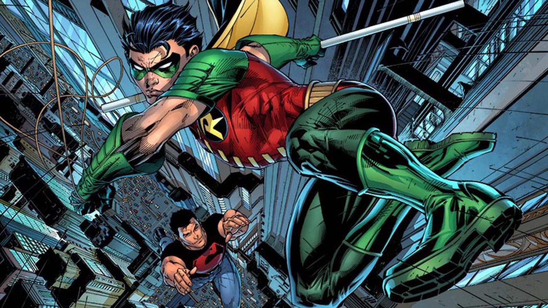 Dc comics robin superboy teen titans young justice 1920x1080