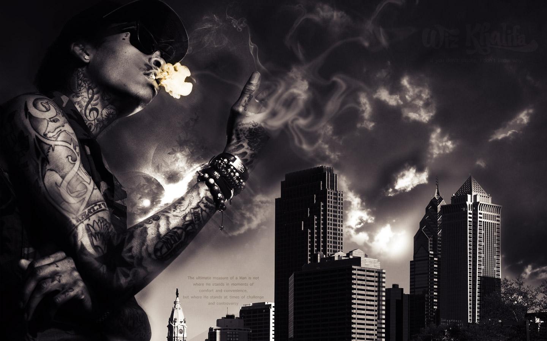Wiz Khalifa Smoking 2 Rap Wallpapers 1440x900