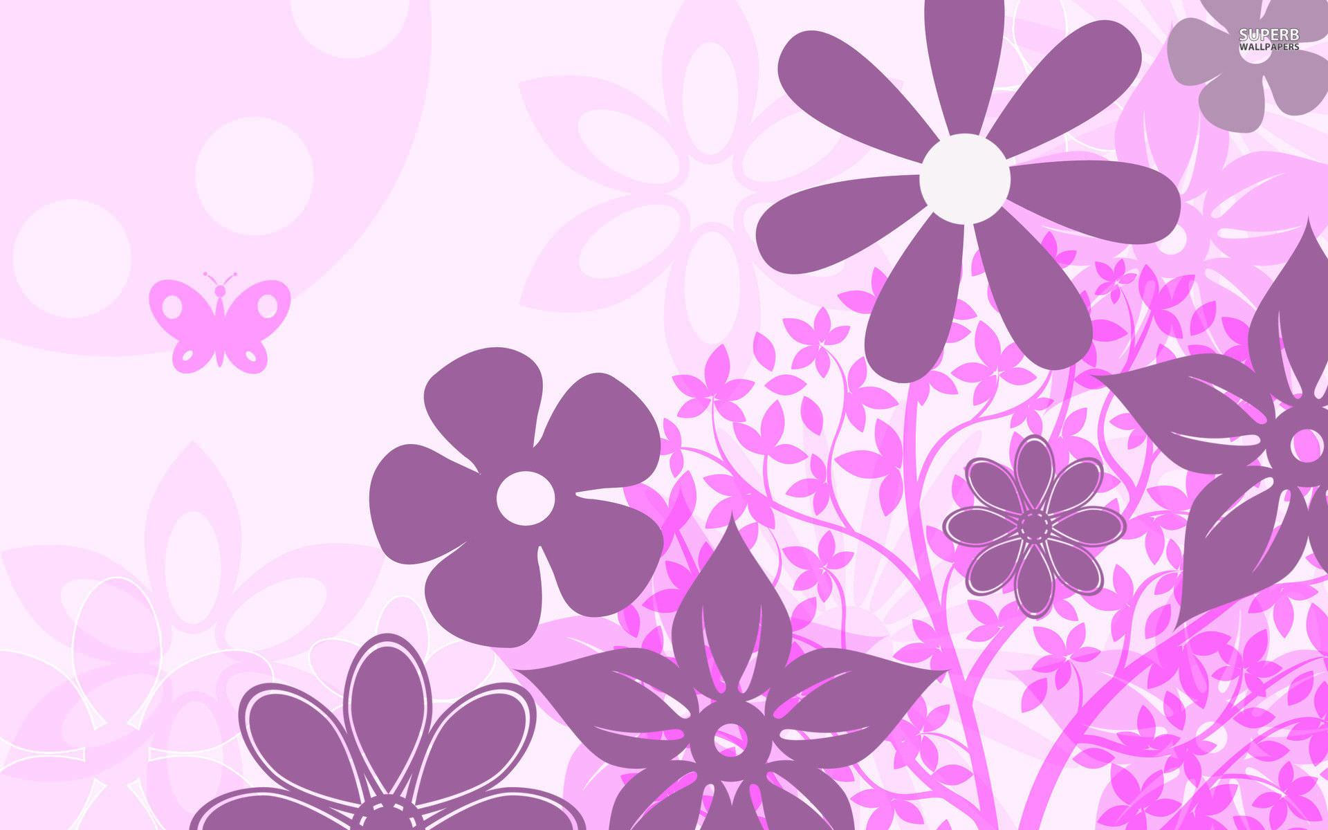 10 Purple Floral Wallpapers Floral Patterns FreeCreatives 1920x1200