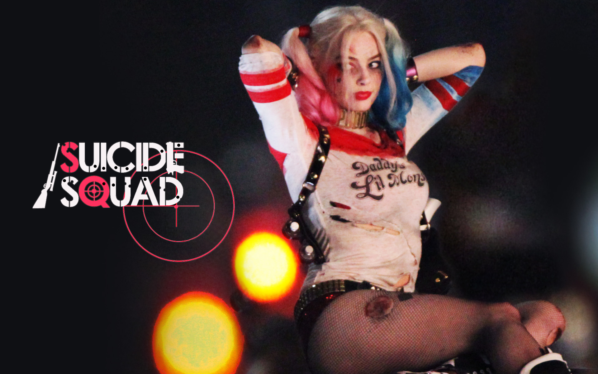Robbie is Harley Quinn in David Ayers Suicide Squad for DC comics 1920x1200