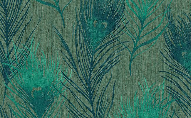 Featherama   Peacock Feathers and Teal Blue [SKN 6808] Designer 650x400