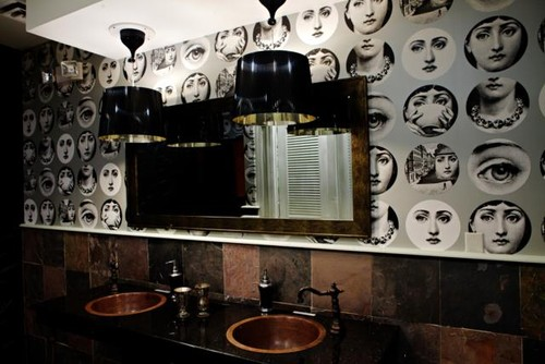 Just Wondering How To Attain Fornasetti Face Wallpaper Thanks 500x334