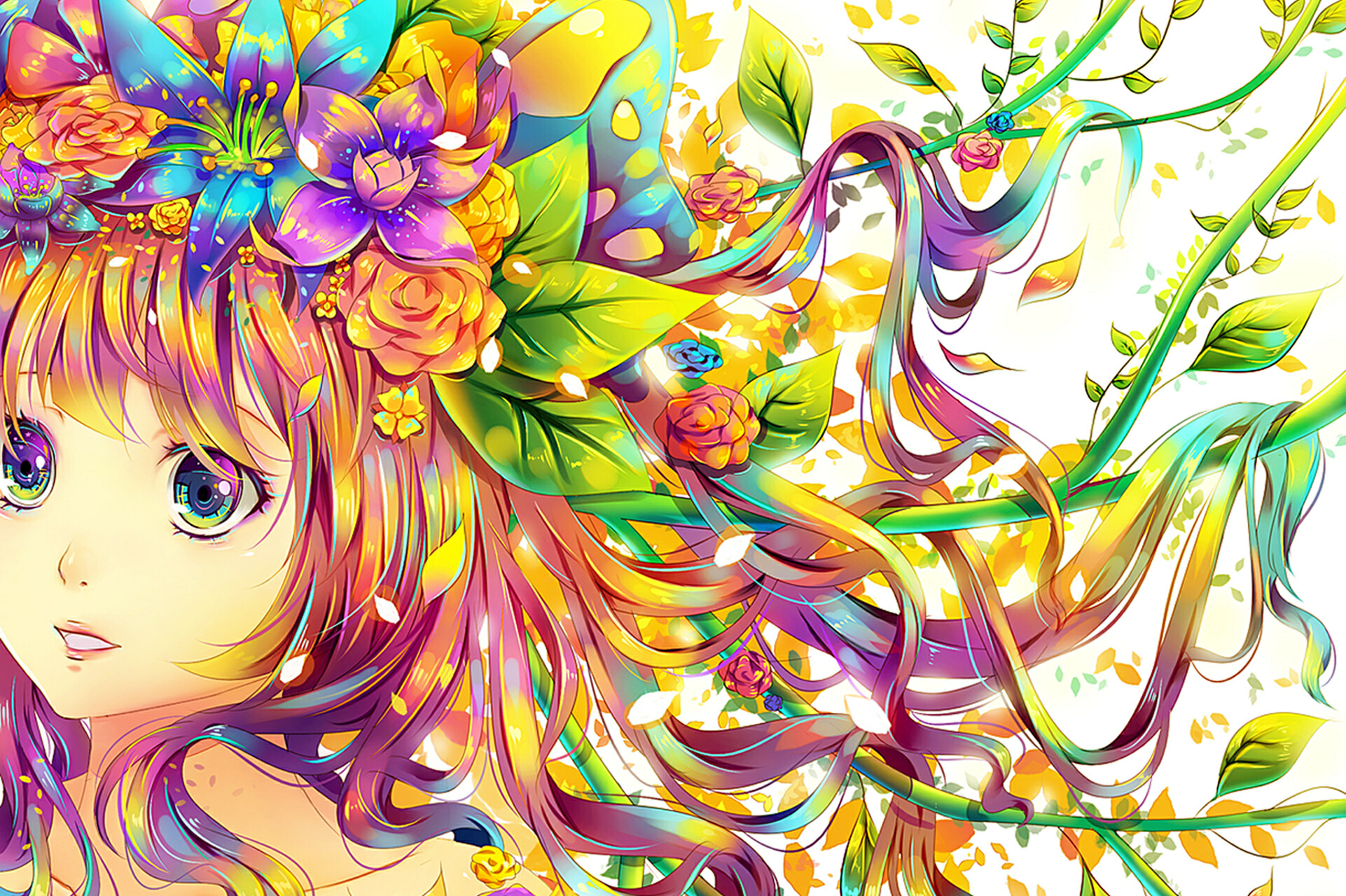 Anniewannie Images Colorful Anime Girl X