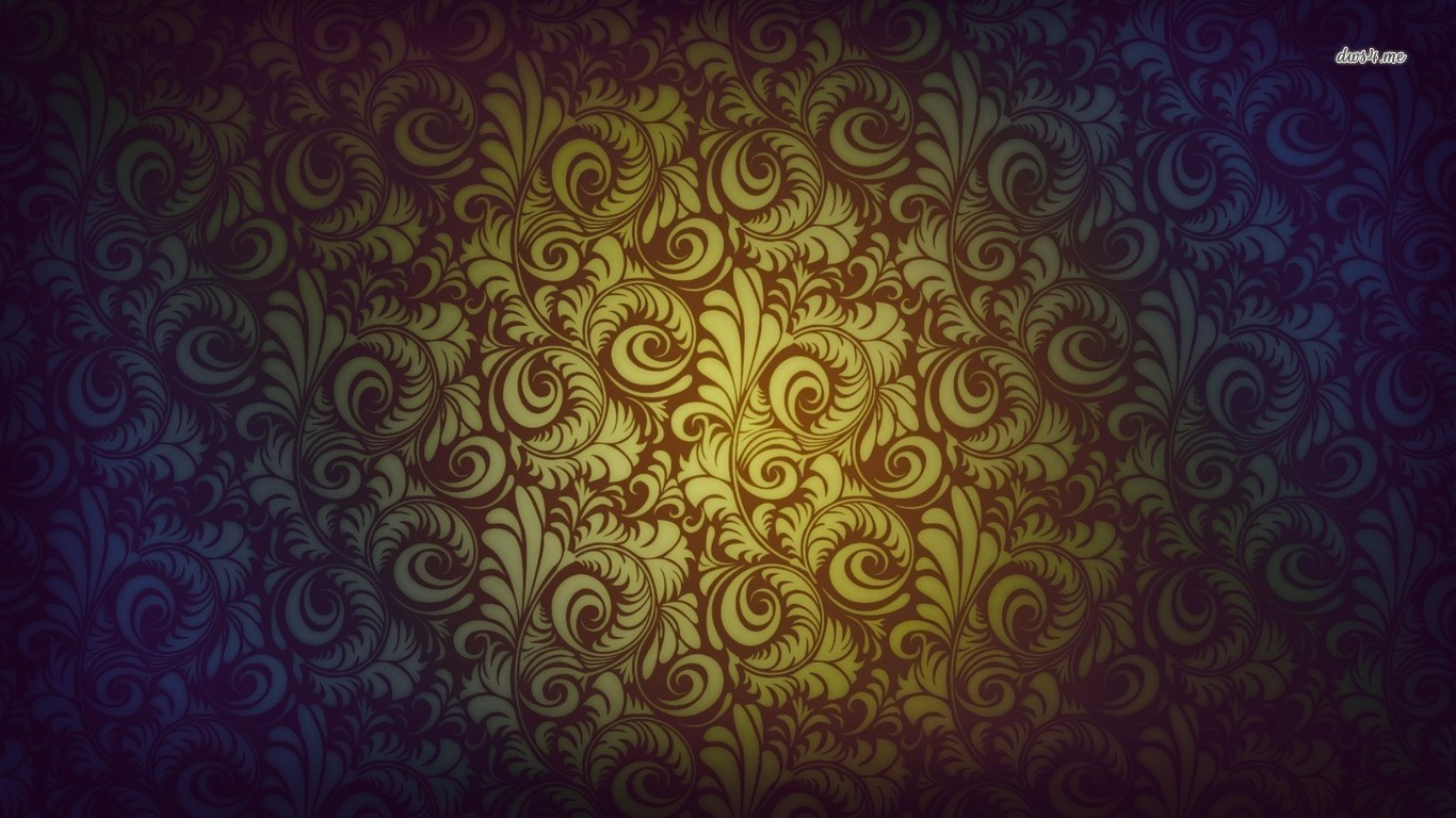 Vintage Paisley Desktop Wallpaper 1366x768