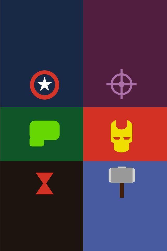 Avengers iPhone wallpaper Captain America Hawkeye Hulk Iron Man 640x960