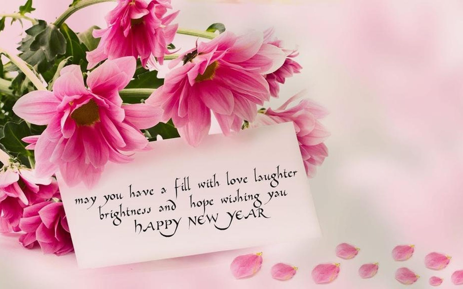 Happy New Year 2020 Rose Flowers Love Wallpapers Hd 5120x2880 1920x1200
