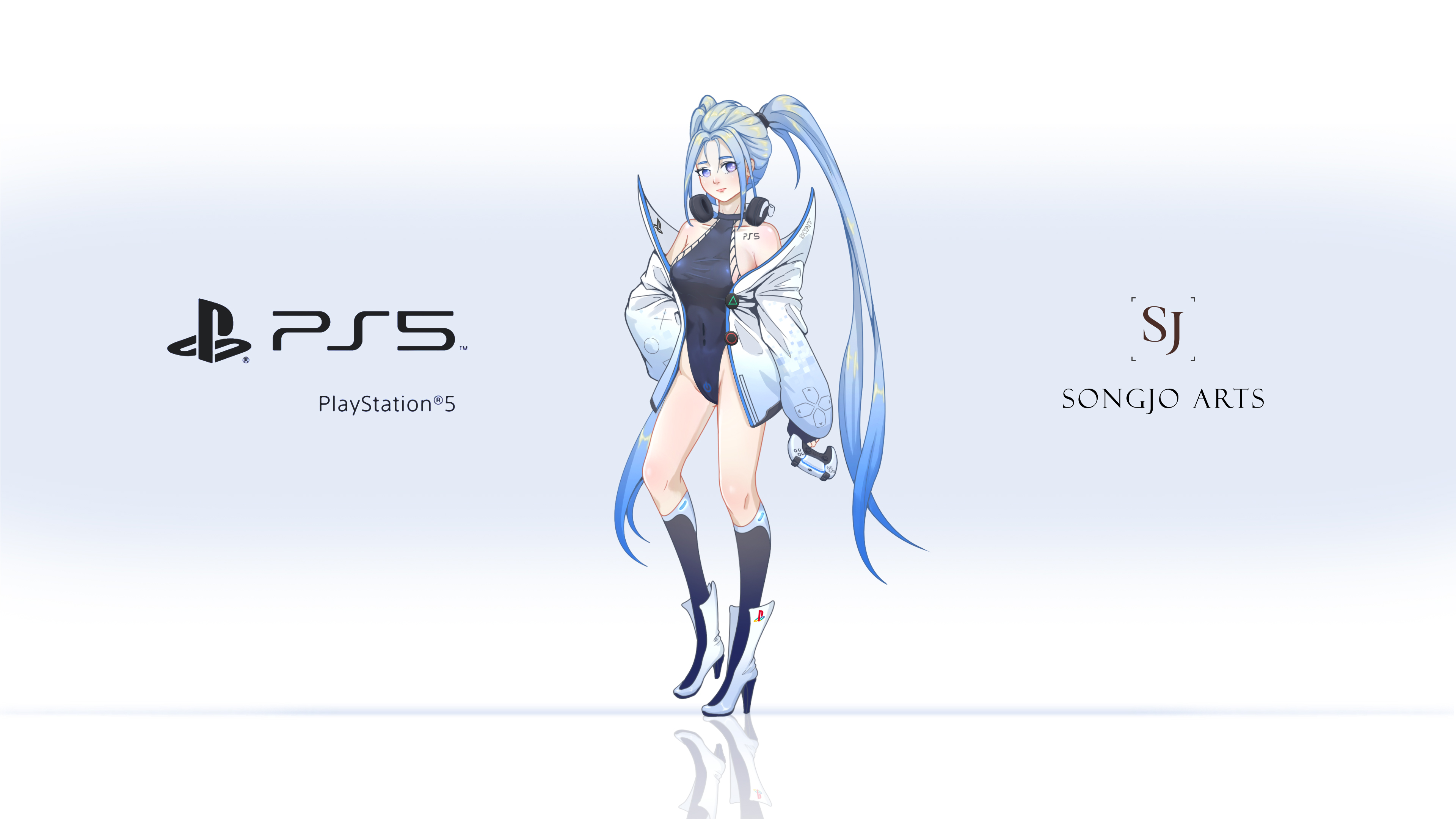 Playstation 5 Chan Wallpaper by SongjoArts 3840x2160
