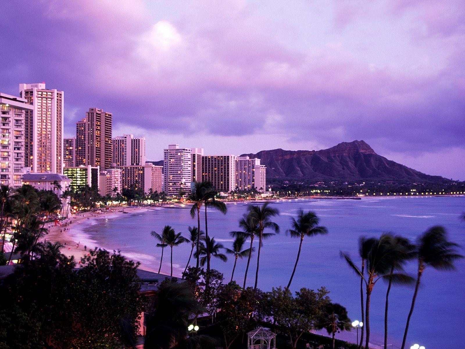 Known places Waikiki Beach Honolulu Oahu Hawaii desktop 1600x1200