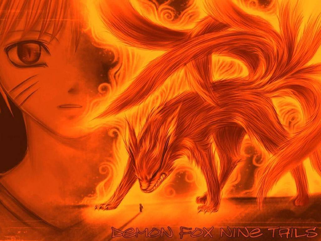 The gallery for   gt Naruto Kyuubi 9 Tails Wallpaper 1024x768