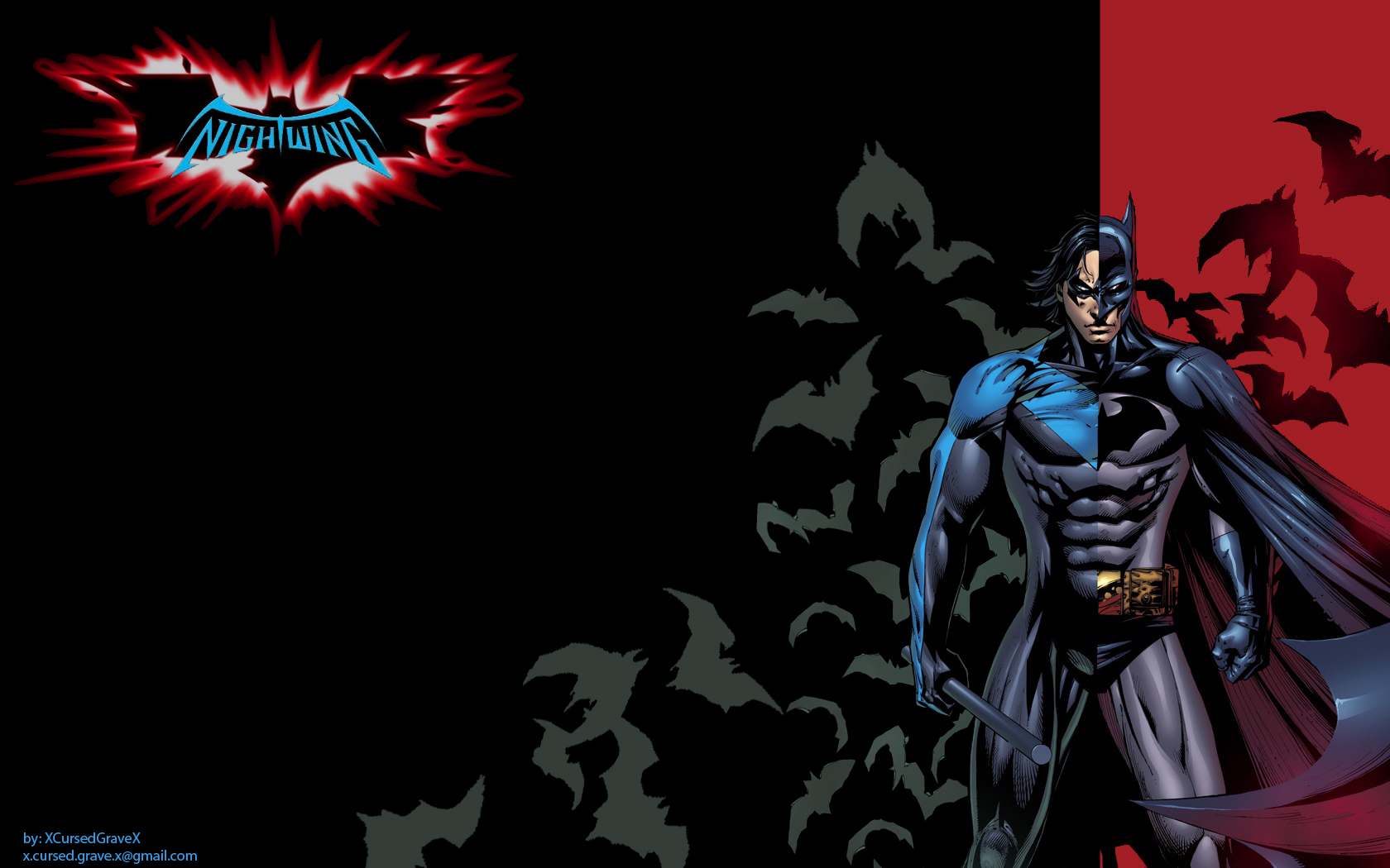 Nightwingsymbolwallpaper 1680x1050