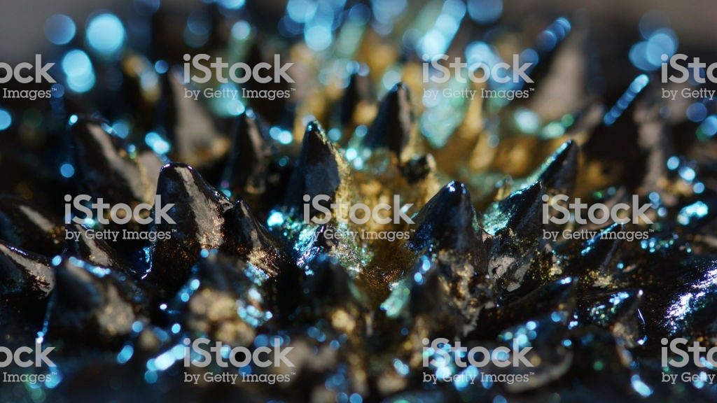 Ferrofluid Background Elements Stock Photo   Download Image Now 1024x576