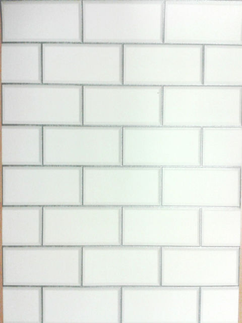 DECOR CERAMICA WHITE SUBWAY TILE LUXURY VINYL COATED WALLPAPER FD40136 480x640