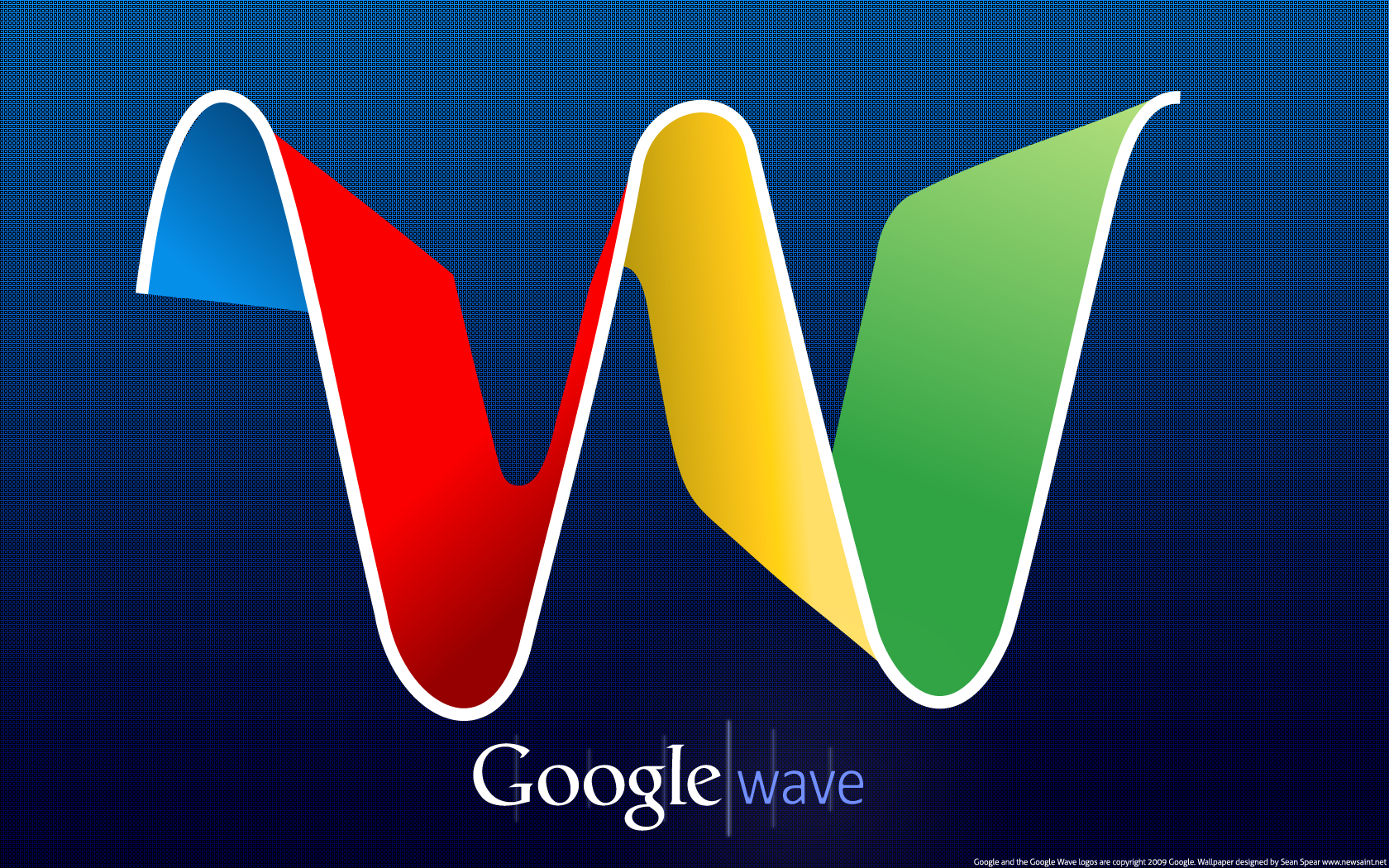 google wave wallpaper by newsaint customization wallpaper vector 2009 1680x1050