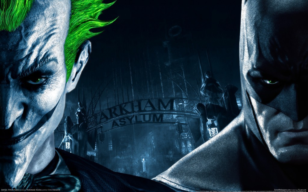 The Joker Vs Batman   Batman Arkham Asylum Wallpaper 15416119 1024x640