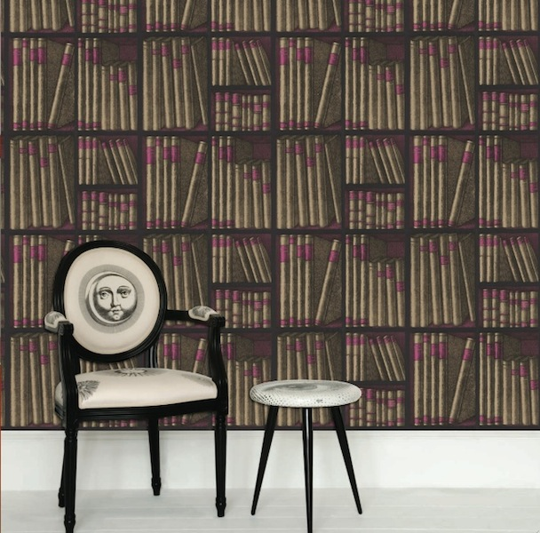 Cole and Son Fornasetti Ex Libris Book Wallpaper Hirshfields Color 608x600