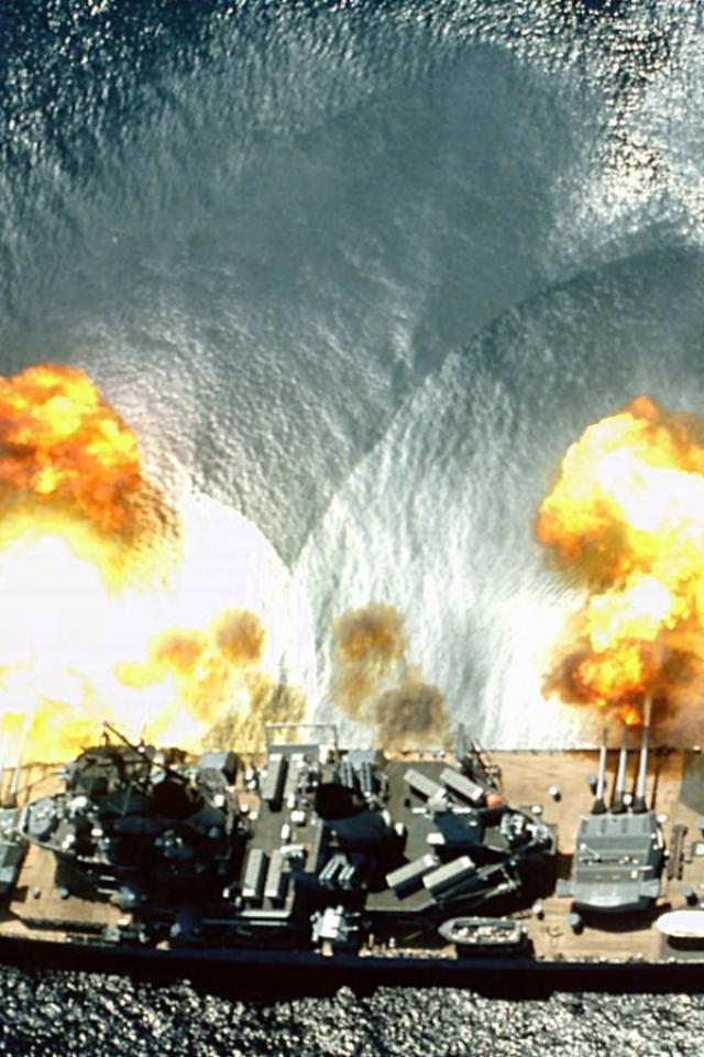military navy battleship uss missouri HD Wallpaper   Army Military 640x960