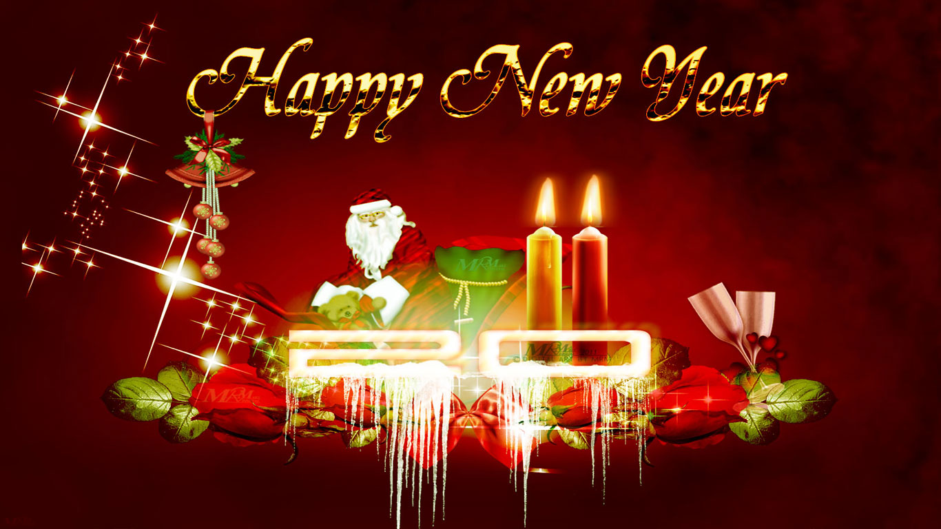 New Wallpapers 2015 Happy New Year Wallpapers 2015 1366x768