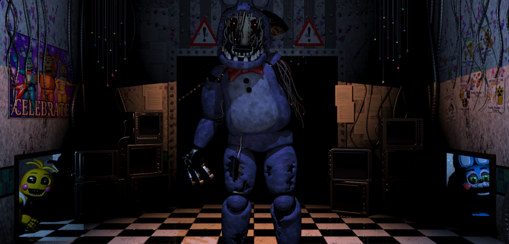 Fnaf 2  Withered Bonnie Toy chica Toy Bonnie by Jones2121 on 1024x492