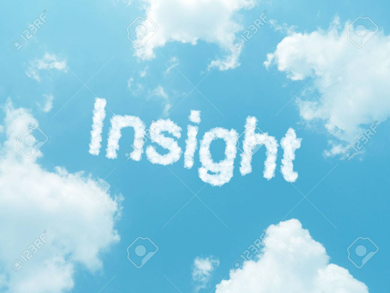 Insight Cloud Word With Design On Blue Sky Background Stock Photo 1300x976