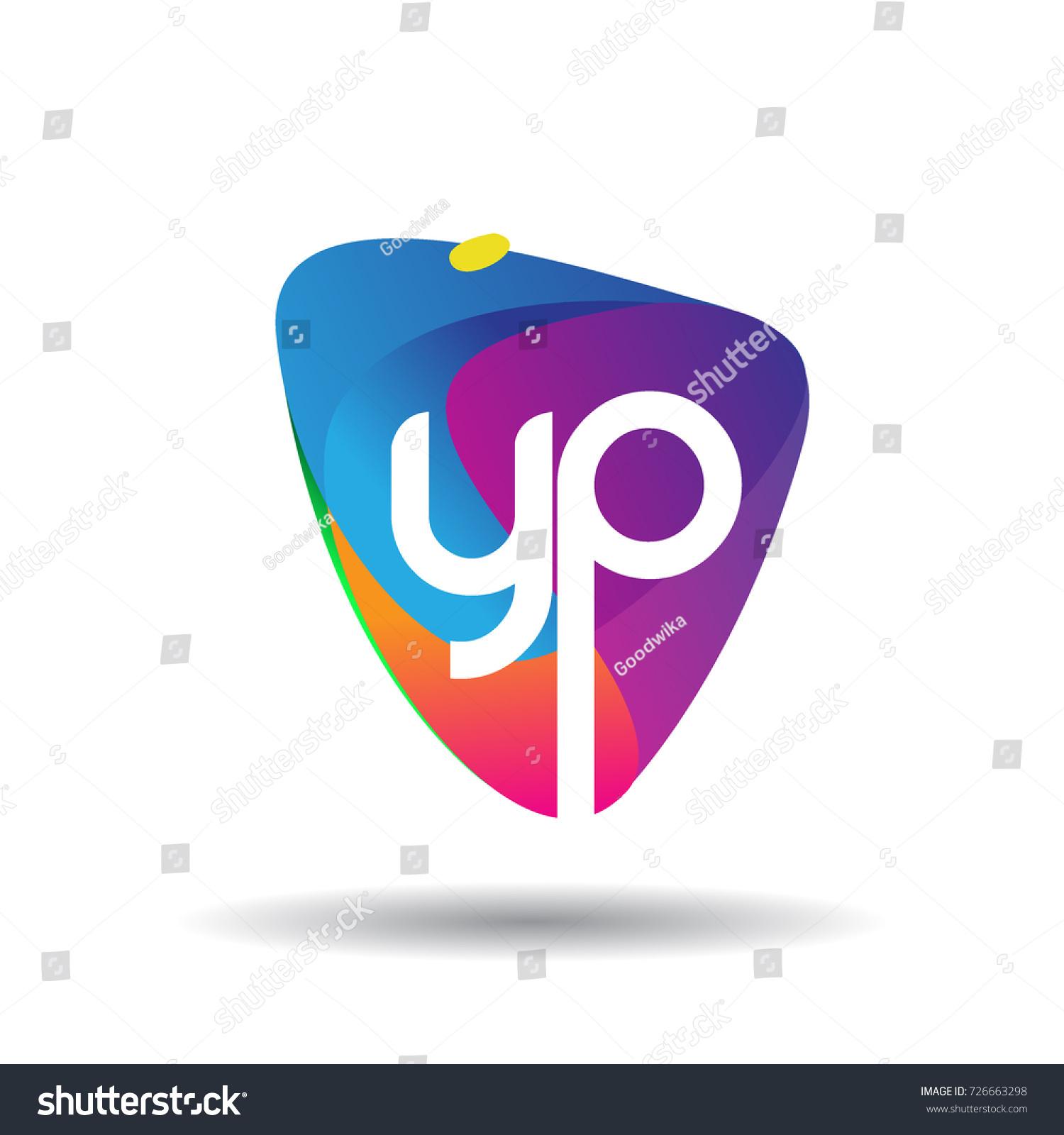 Letter Yp Logo Colorful Splash Background Stock Vector Royalty 1500x1600