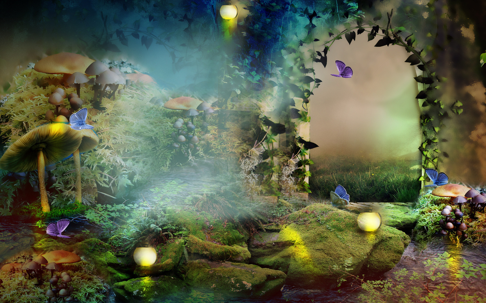 39+ Enchanted Forest Wallpapers on WallpaperSafari