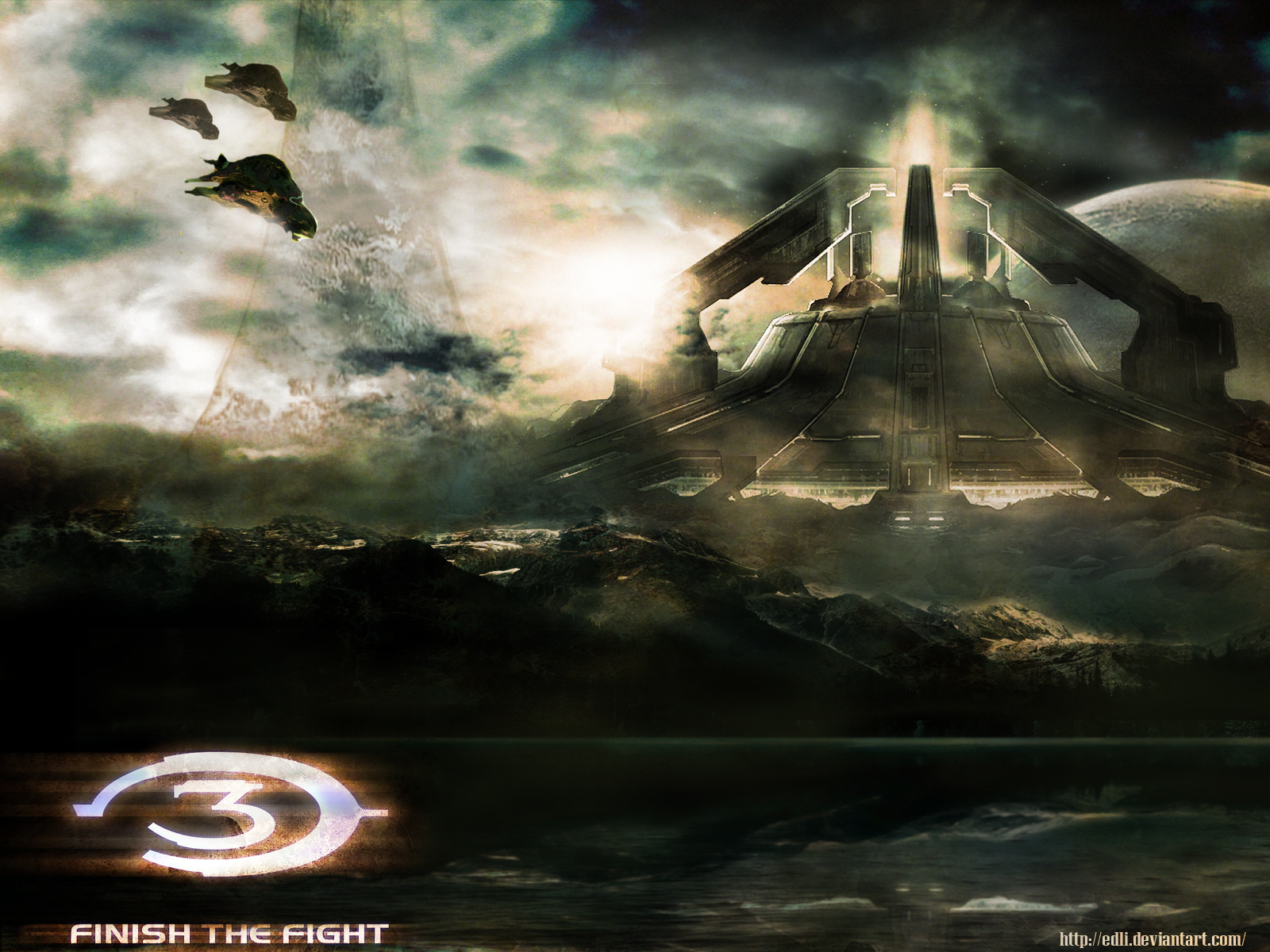 the widescreen desktop wallpapers of Halo scenes made by Halo fans 1600x1200