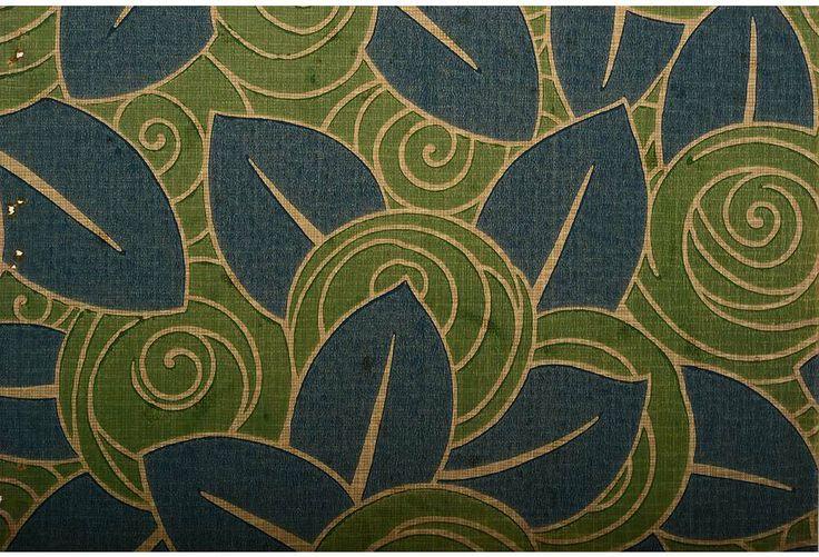 One Kings Lane   Jazz Age Aesthetic   1920s Floral Wallpaper Sample 736x501