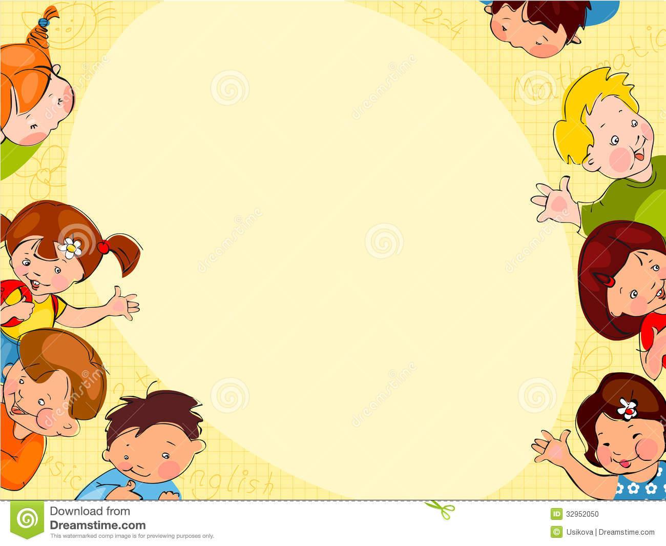 Childrens School Background Stock Photo   Image 32952050 1300x1065