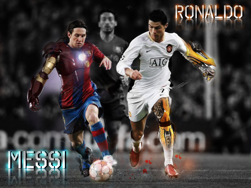 Download Messi VS Ronaldo Wallpapers Soccer wallpaper from the 1024x768