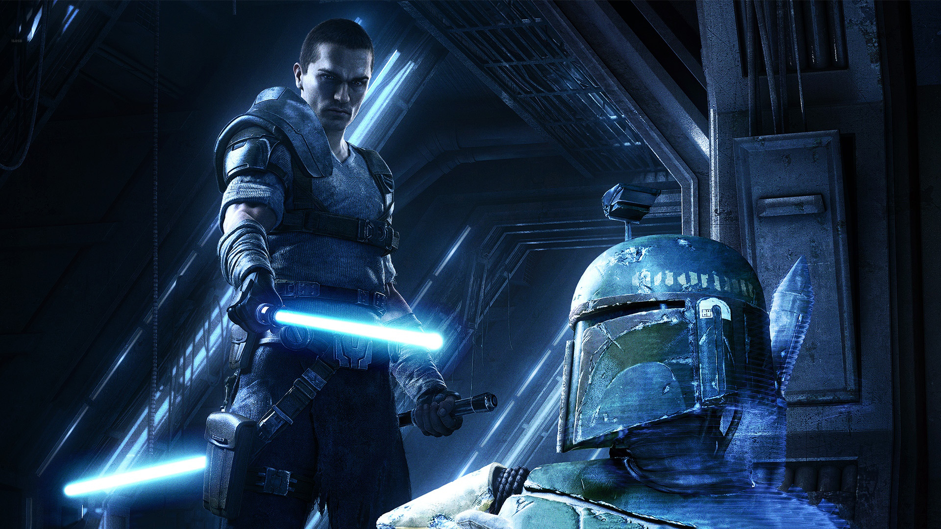 Star Wars The Force Unleashed videogames sci fi jedi lightsaber 1920x1080
