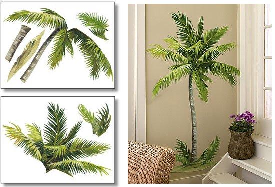 Wallies Palm Tree Big Wall Mural   Wall Sticker Outlet 550x374