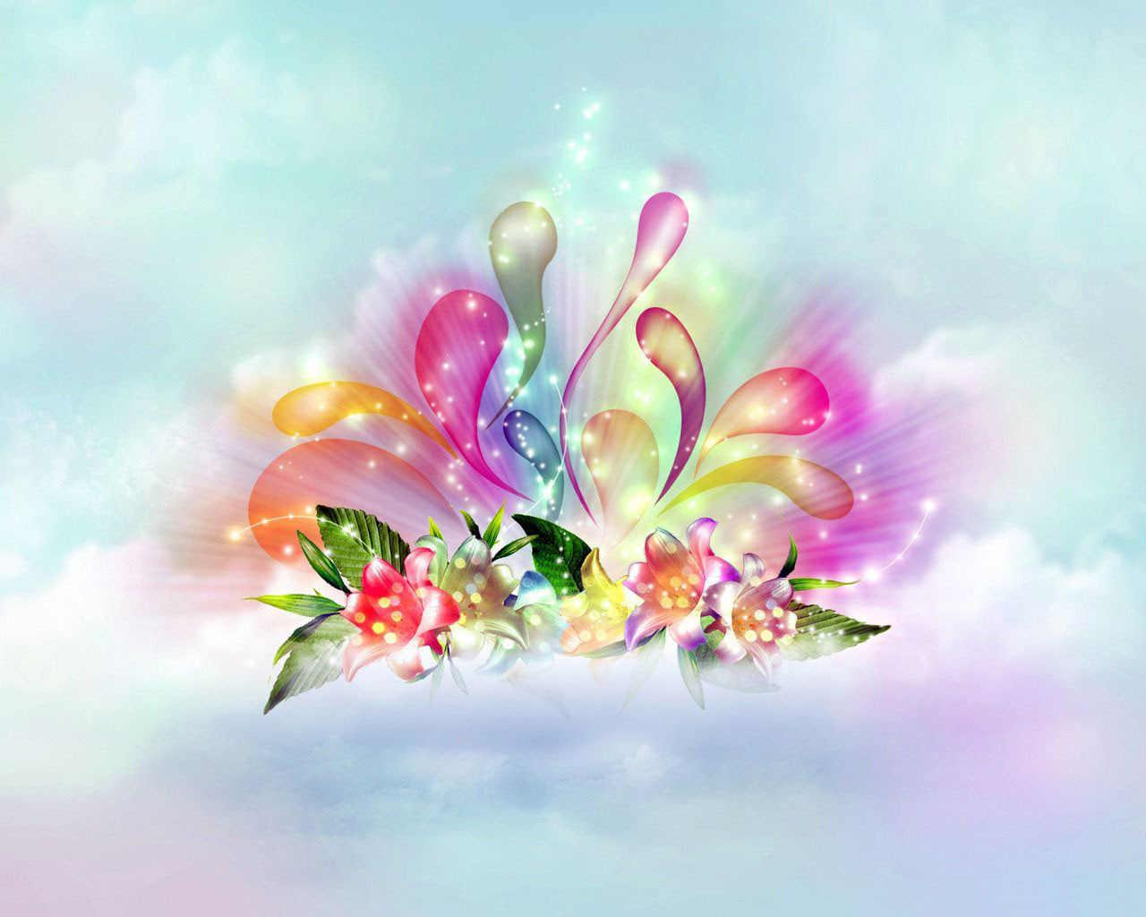 Light Color Wallpapers For Desktop 3D Full HD Wallpapers Points 1280x1024