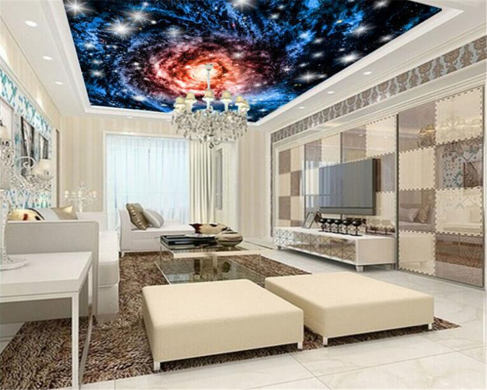 beibehang High end quality aesthetic interior wall paper cosmic 1000x800