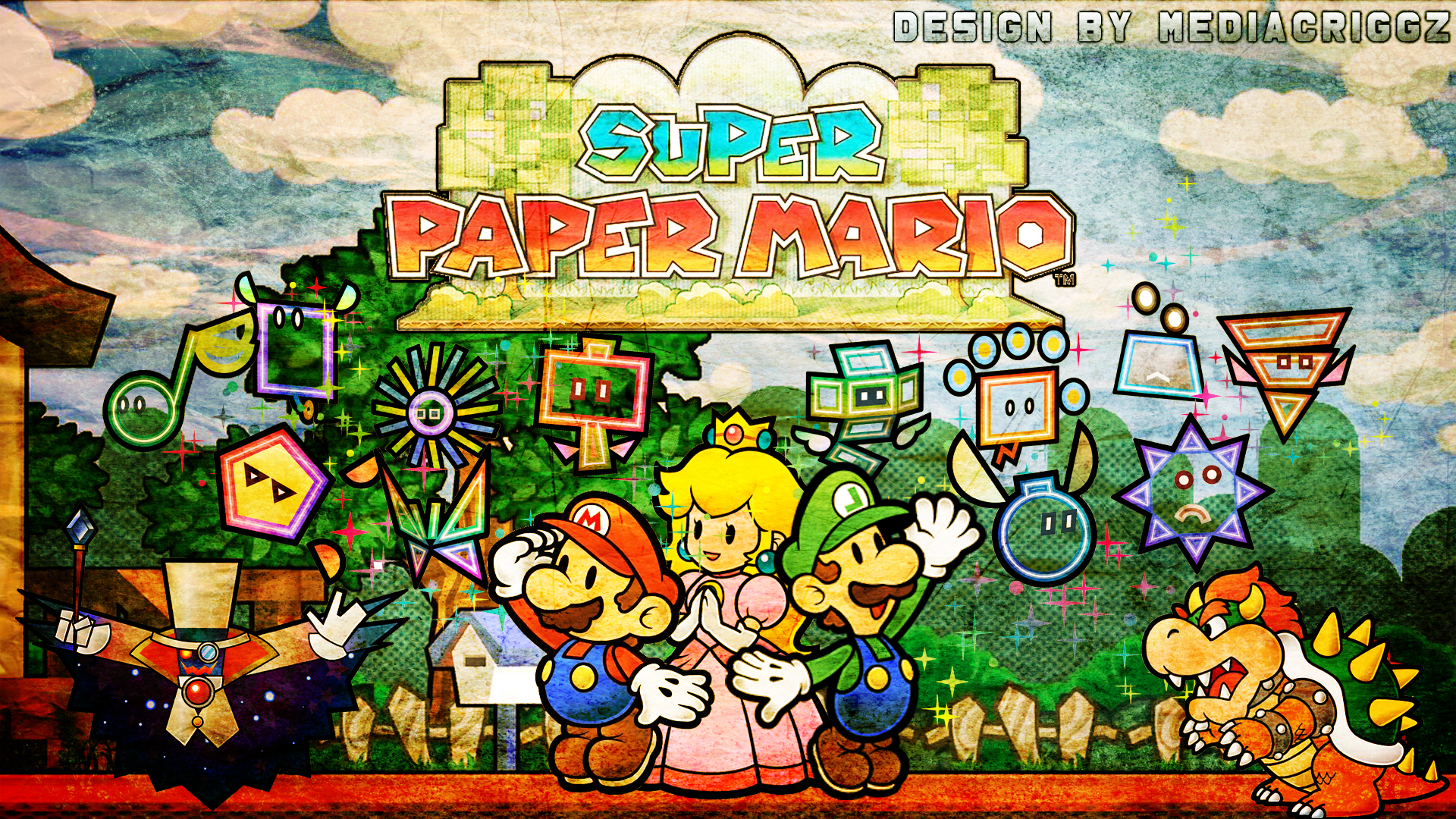 Super Paper Mario Wallpaper Wallpapersafari
