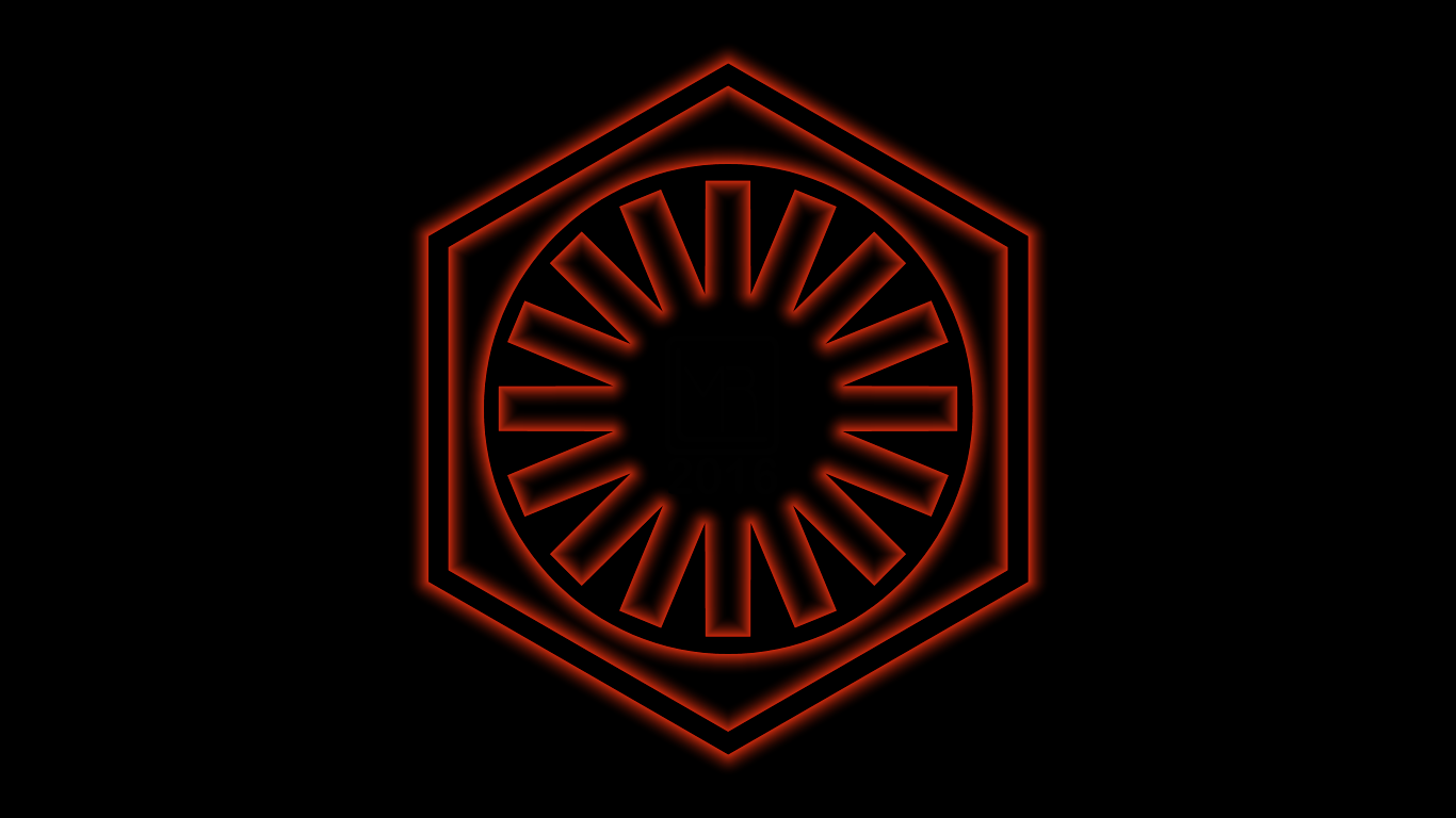 Star Wars The First Order Glowing Logo WP by MorganRLewis on 1366x768