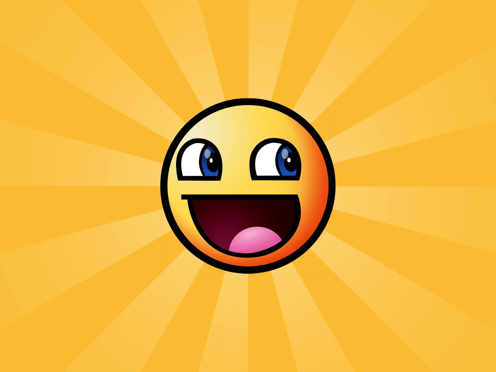 Awesome Smiley Face Wallpaper 2455 1600 x 1200   WallpaperLayercom 1600x1200