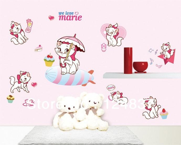 Removable Wallpaper Cartoon Animal Mural DIY Nursery Art Wholesale 690x552