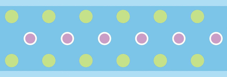 Blue Polka Dot Peel and Stick Wallpaper Border 1500x512