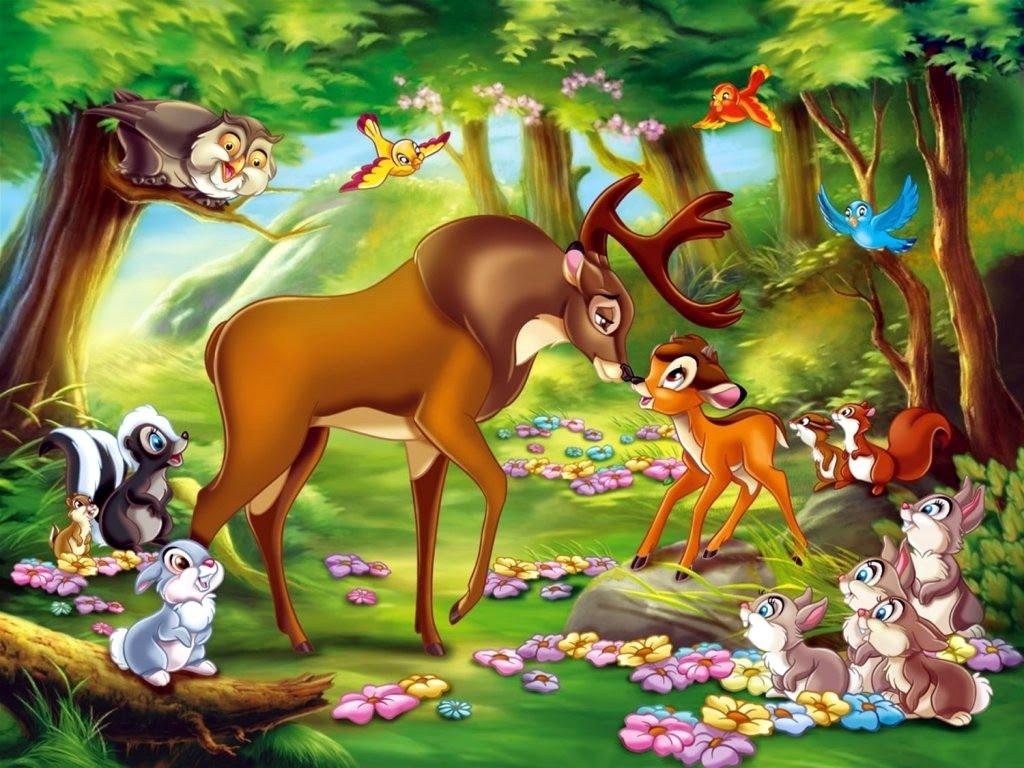 de Bambi y hemos pensado que este fondo de Bambi podra ser ideal 1024x768